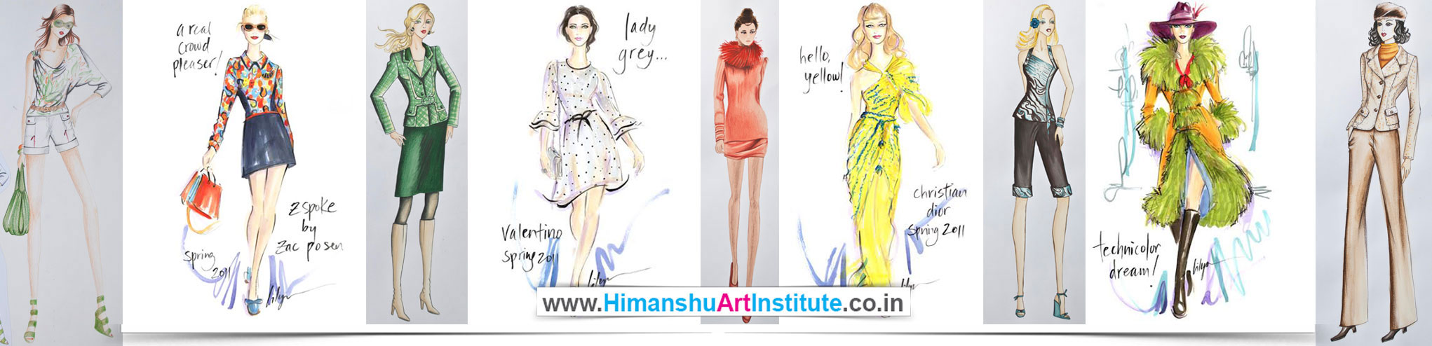 Fashion Illustration Classes For Fashion Designing Students Fashion Sketching Classes In Delhi India