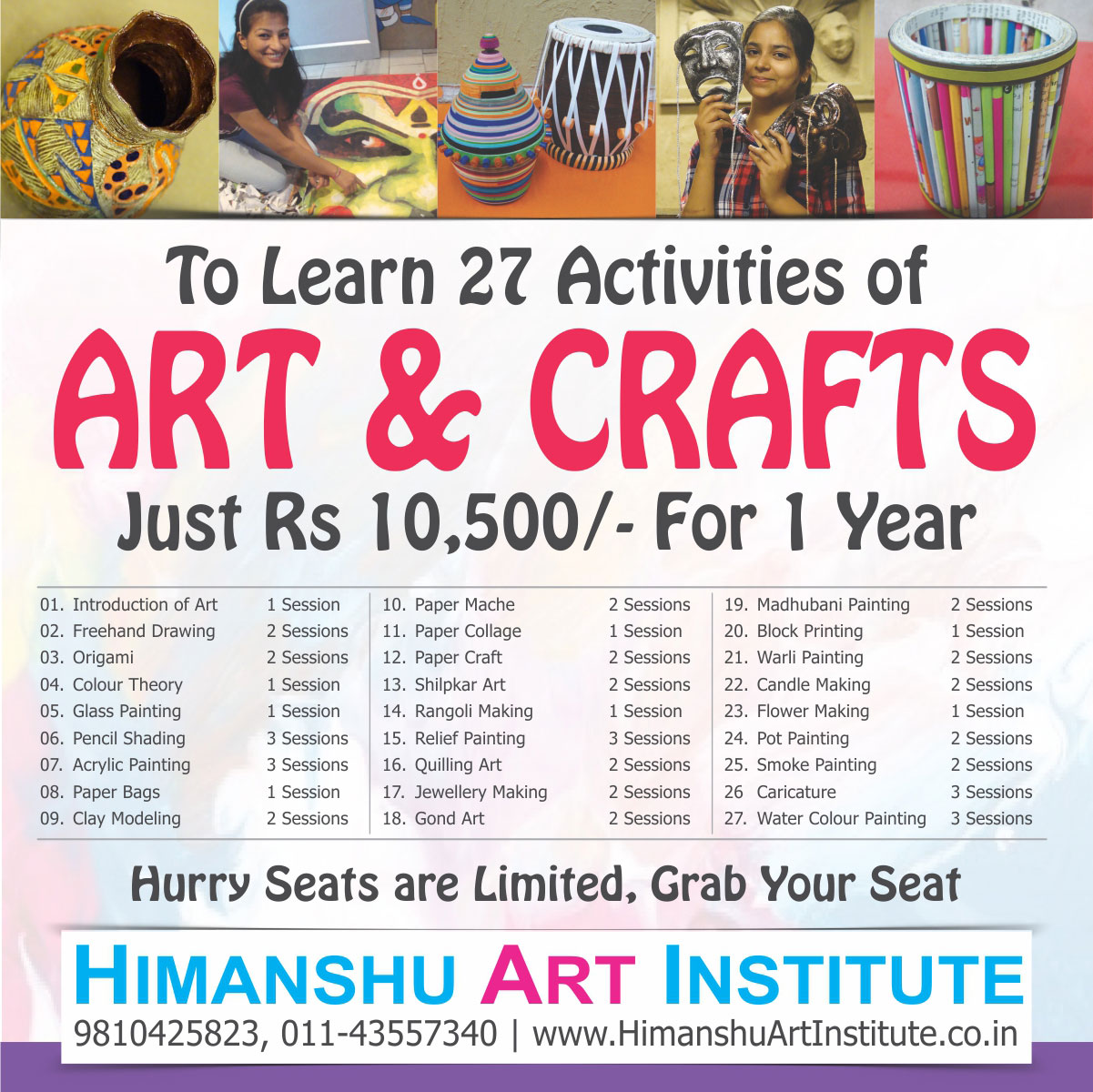 Join 27 Activities Of Art Craft Just Rs 10 500 For One Year